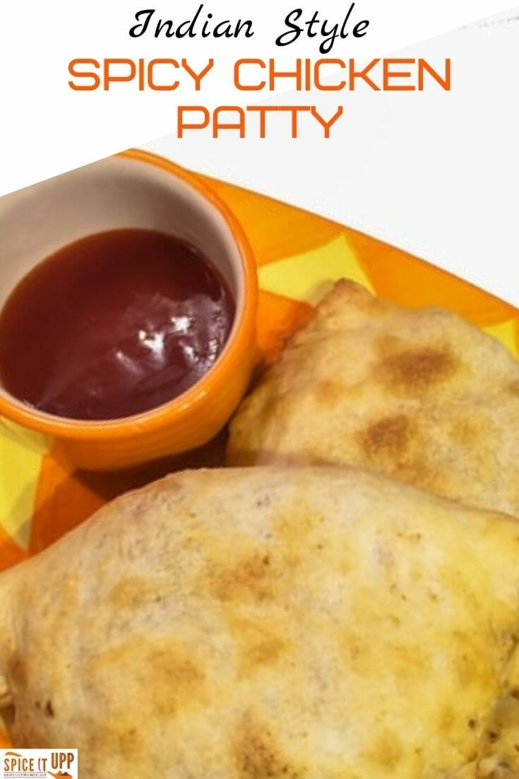Spicy Chicken patty recipe pinterest image