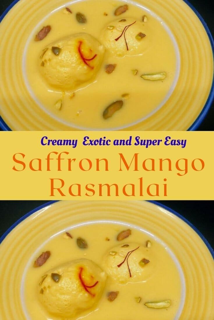 Mango rasmalai pinterest image
