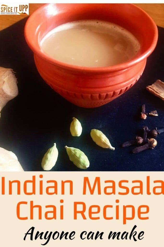 Indian masala chai recipe pinterest image